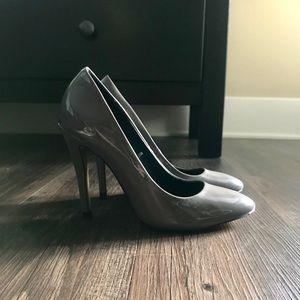 Zara patent grey pumps